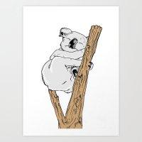 koala Art Prints featuring Koala by Madmi