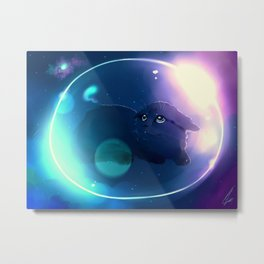 My dreamland has cats and bubbles Metal Print