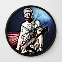 u2 Wall Clocks featuring U2 / Adam Clayton by JR van Kampen