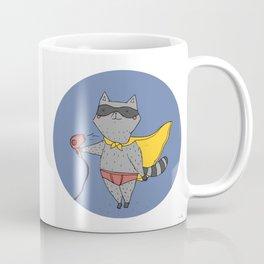 Louie the raccoon pretends to be a superhero Coffee Mug