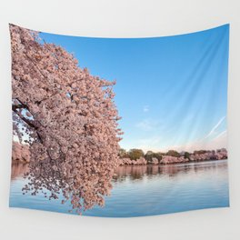 Washington DC Cherry Blossoms Wall Tapestry