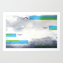 Birds and Lines Art Print