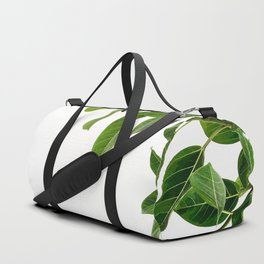 Minimalist Mid Century Abstract Houseplant Green Leaves Fig Tree Duffle Bag