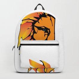 Lion Head Design Backpack