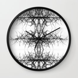 Black and white tree Wall Clock