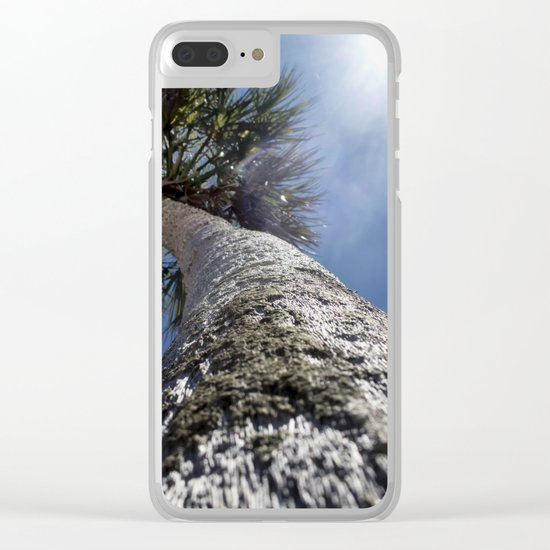 Reaching To The Sun Clear iPhone Case