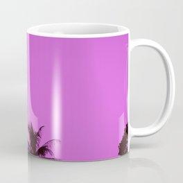 Tropical palm trees on blue pink Coffee Mug