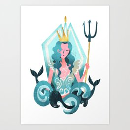 Pisces (Maiden of the Sea) Art Print
