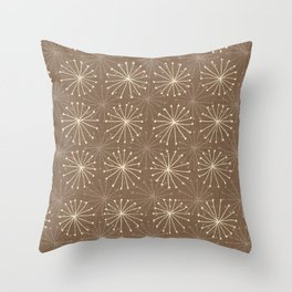 seedheads brown Throw Pillow