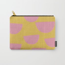Petals (Pink on Mustard) Carry-All Pouch