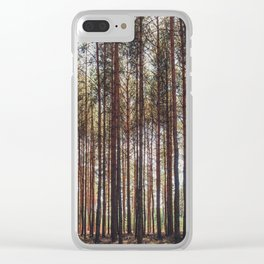 trees in forest photo, tree landscape photography Clear iPhone Case