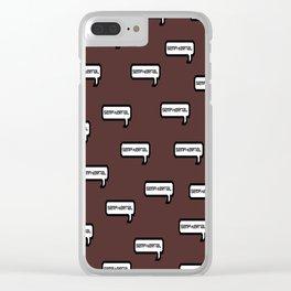 Sempiternal - Maroon Clear iPhone Case