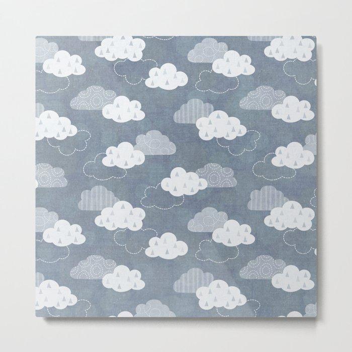 RAIN CLOUDS Metal Print