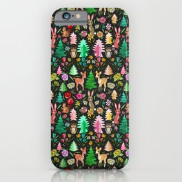 Forest Friends in the Kitsch Woods iPhone Case