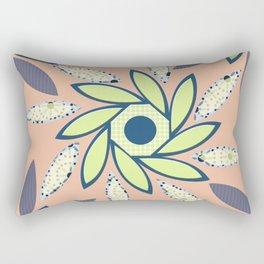 Sunflowers Octagon Peach, Lime Rectangular Pillow