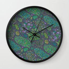 Nugs in Green Wall Clock