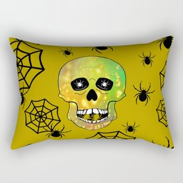 Spider Skull Rectangular Pillow