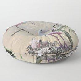 Spoonbills Of Florida Floor Pillow