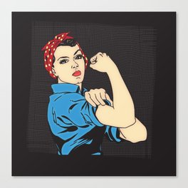 Rosie The Riveter Canvas Print