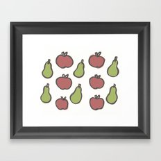 Apples and Pears Framed Art Print