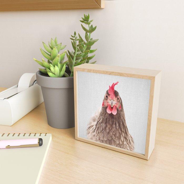 Chicken - Colorful Framed Mini Art Print