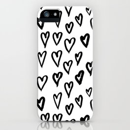 Hearts Pattern 01 iPhone Case