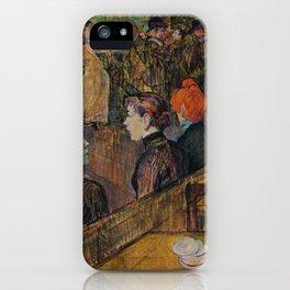 """Henri de Toulouse-Lautrec """"Ball at the Moulin de la Galette"""" iPhone Case"""