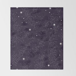 Universe with planets and stars seamless pattern, cosmos starry night sky 005 Throw Blanket