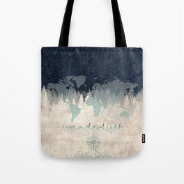 world map wanderlust forest 2 Tote Bag