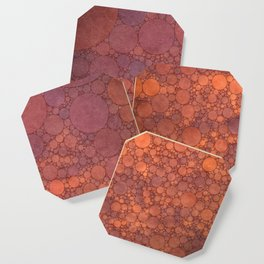 Percolated Sunset in Warm Tones Coaster