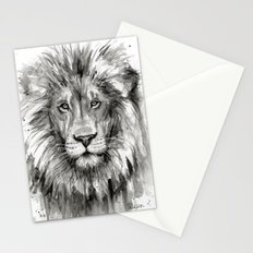 Lion Watercolor Animal Stationery Cards