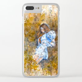 Hanging rock summer afternoon Clear iPhone Case