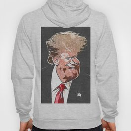Trump the Head Artistic Caricature Caricature Style Hoody