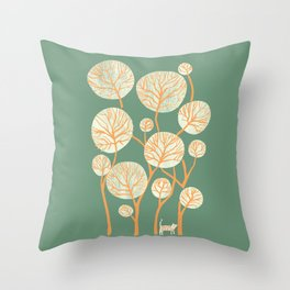 Deep in the jungle, the tiger roams Throw Pillow
