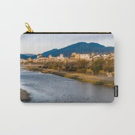 Panoramic view of Kamo River in Kyoto Carry-All Pouch