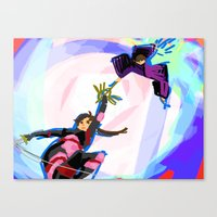 inuyasha Canvas Prints featuring Inuyasha - Power Couple by MyopicBloom