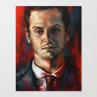 moriarty Canvas Prints featuring James Moriarty by Alice X. Zhang