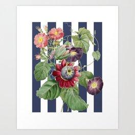 Collage Modern Redouté Art Print