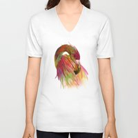 birds V-neck T-shirts featuring birds  by mark ashkenazi