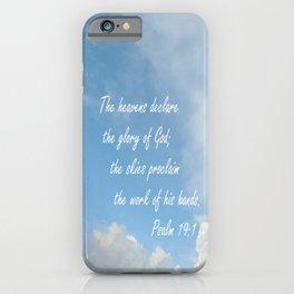 The Heavens Declare iPhone Case