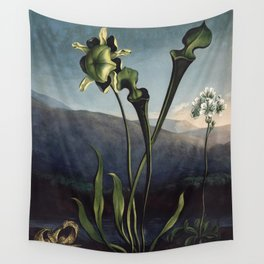 Robert Thornton - Carnivorous pitcher plant Wall Tapestry
