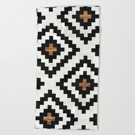 Urban Tribal Pattern No.16 - Aztec - Concrete and Wood Beach Towel