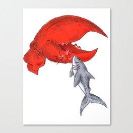 Great White Lobstah Lovah Canvas Print