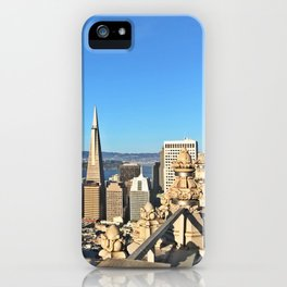 Room with a view, Mark Hopkins San Francisco, CA with the TransAmerica Tower iPhone Case