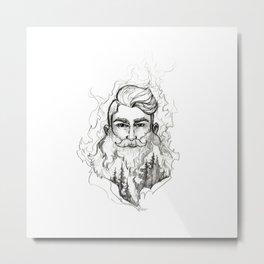 Beard: Fire Metal Print