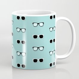 All Them Glasses - Teal Coffee Mug