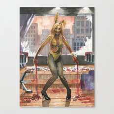 Amelia Talon's Bunny Zombie Pin-up of Horror Canvas Print