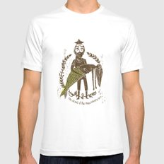 King of the Seas No. 2 White Mens Fitted Tee MEDIUM