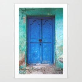 Blue Indian Door Art Print
