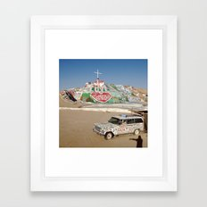 Salvation Mountain Framed Art Print